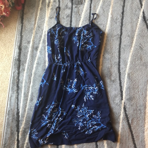 Old Navy Dresses & Skirts - Old Navy Blue Coral Summer Dress Medium Tall